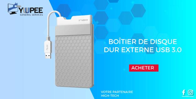BOÎTIER DE DISQUE DUR EXTERNE USB 3.0