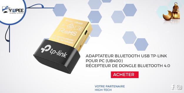 ADAPTATEUR BLUETOOTH USB TP-LINK POUR PC (UB400), RÉCEPTEUR DE DONGLE BLUETOOTH 4.0