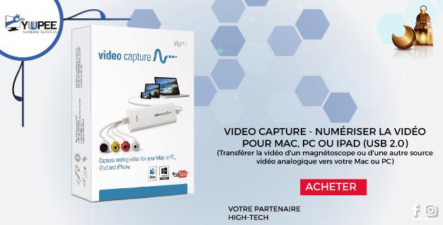 VIDEO CAPTURE - NUMÉRISER LA VIDÉO POUR MAC, PC OU IPAD (USB 2.0)