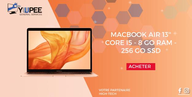 MACBOOK AIR 13''  Core i5 - 8 Go RAM - 256 Go SSD
